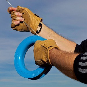 Fingerless climbing gloves.