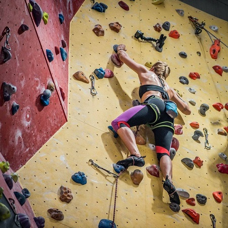Woman Training Climbing
